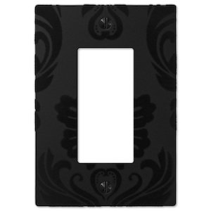 Amerelle Wallplates Single Rocker Wallplate in Black