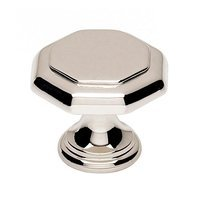 "Alno Inc. Creations - Knobs III - Solid Brass 1"" in Polished Nickel"