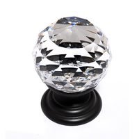 "Alno Inc. Creations - Crystal - Solid Brass 1 3/16"" Spherical Knob in Swarovski /Bronze"