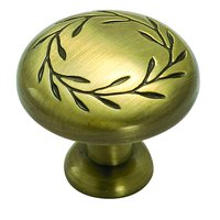 "Amerock - Nature's Splendor - Elegant Brass Knob 1 1/4"" ( 32mm )"