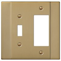 Amerelle Wallplates - Italia - Single Toggle Single Rocker Combo Wallplate in Brushed Bronze