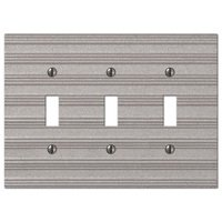 Amerelle Wallplates - Chemal - Triple Toggle Wallplate in Frosted Nickel