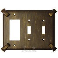 Anne at Home - Hammerhein - Hammerhein Switchplate Combo Rocker/GFI Double Toggle Switchplate in Pewter Matte