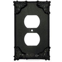 Anne at Home - Sonnet - Sonnet Switchplate Duplex Outlet Switchplate in Pewter Matte