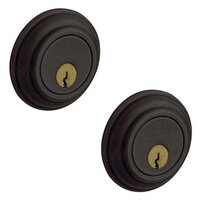Baldwin Hardware - Traditional - Double Cylinder Deadbolt in Distressed Oil Rubbed Bronze