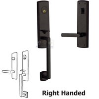 Baldwin Hardware - Soho - Escutcheon Right Handed Single Cylinder Handleset with Lever in Distressed Oil Rubbed Bronze