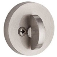 Baldwin Hardware - Reserve Contemporary - Patio (One-Sided) Round Deadbolt in Satin Nickel