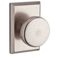 Baldwin Hardware - Reserve Rustic - Privacy Door Knob with Square Rose in White Bronze