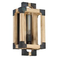 Craftmade - Cubic - 1 Light Wall Sconce in Fired Steel with Natural Wood