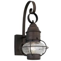 Designers Fountain - Nantucket - Exterior Wall Lantern in Rustique with Clear Seedy