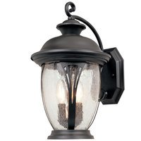 "Designers Fountain - Westchester - 11"" Wall Lantern in Bronze with Seedy"