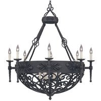 Designers Fountain - Alhambra - Interior Chandelier in Natural Iron