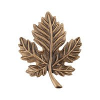 "Acorn MFG - Artisan - 1 3/4"" Leaf Knob in Museum Gold"