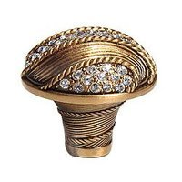 "Edgar Berebi - Waldorf - 1 3/8"" Waldorf Knob with Swarovski Crystal in Museum Gold"
