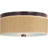 ET2 Lighting - Clearance - Elements 3-Light Flush Mount in Oil Rubbed Bronze