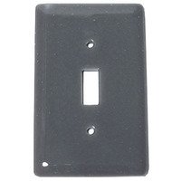 Hot Knobs - Solids Switchplates - Single Toggle Glass Switchplate in Deco Gray