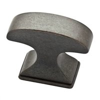 "Liberty Hardware - Classic Edge - 1 3/8"" Rectangle Knob in Soft Iron"