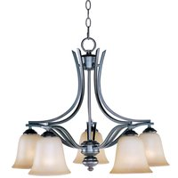 "Maxim Lighting - Madera - 25"" 5-Light Down Light Chandelier in Oil Rubbed Bronze with Wilshire Glass"