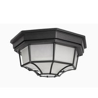 "Maxim Lighting - Crown Hill - 11 1/2"" 2-Light Outdoor Ceiling Mount in Black"