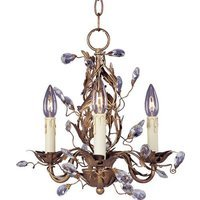 "Maxim Lighting - Elegante - 14"" 3-Light Chandelier in Etruscan Gold"