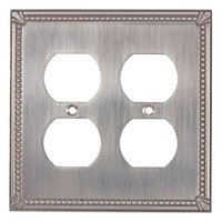 Richelieu Hardware - Switchplates - Traditional Double Duplex Outlet in Brushed Nickel