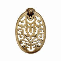 "Richelieu Hardware - Village Expression IV - 19/32"" Long Traditional Brass Pendant Pull in Florence"