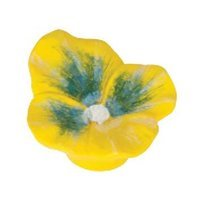 Siro Designs - Flowers - Yellow Pansey Knob