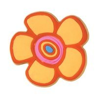 Siro Designs - Popsicle - 44mm Rubber Flex Flower Knob in Yellow/Orange/Pink/Blue