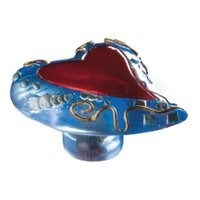 Siro Designs - Fantasia - Slanted Heart Knob in Red and Blue